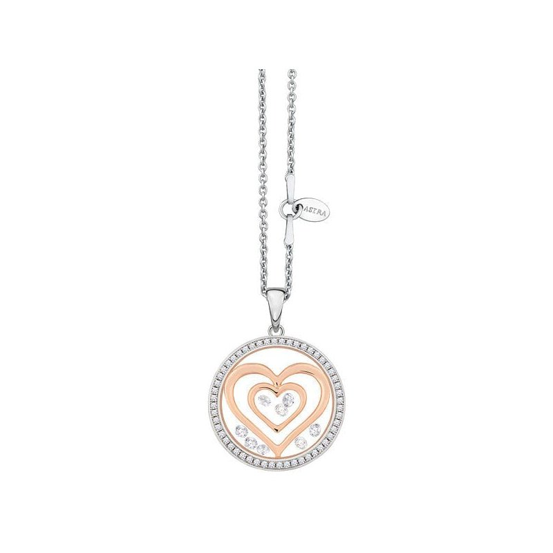 ASTRA Jewellery Double Heart with Halo, 20mm