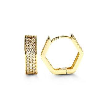 10k Yellow Gold Huggie Earrings