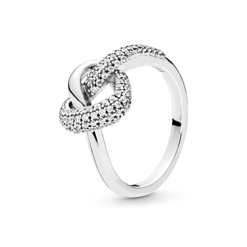 Pandora Knotted Heart Ring, size 7.0