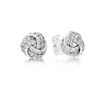 Shimmering Knot Stud Earrings