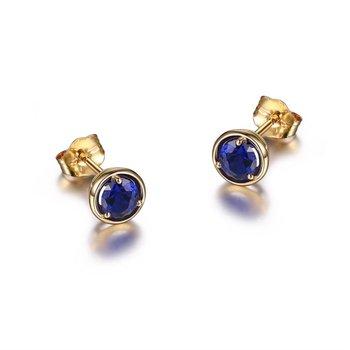 10K Gold September Birthstone Earrings