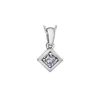 10K Diamond Solitaire Pendant, 0.07 TDW