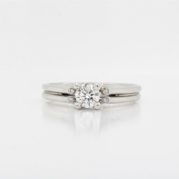 14K Solitaire Engagement Ring, 0.35 TCW