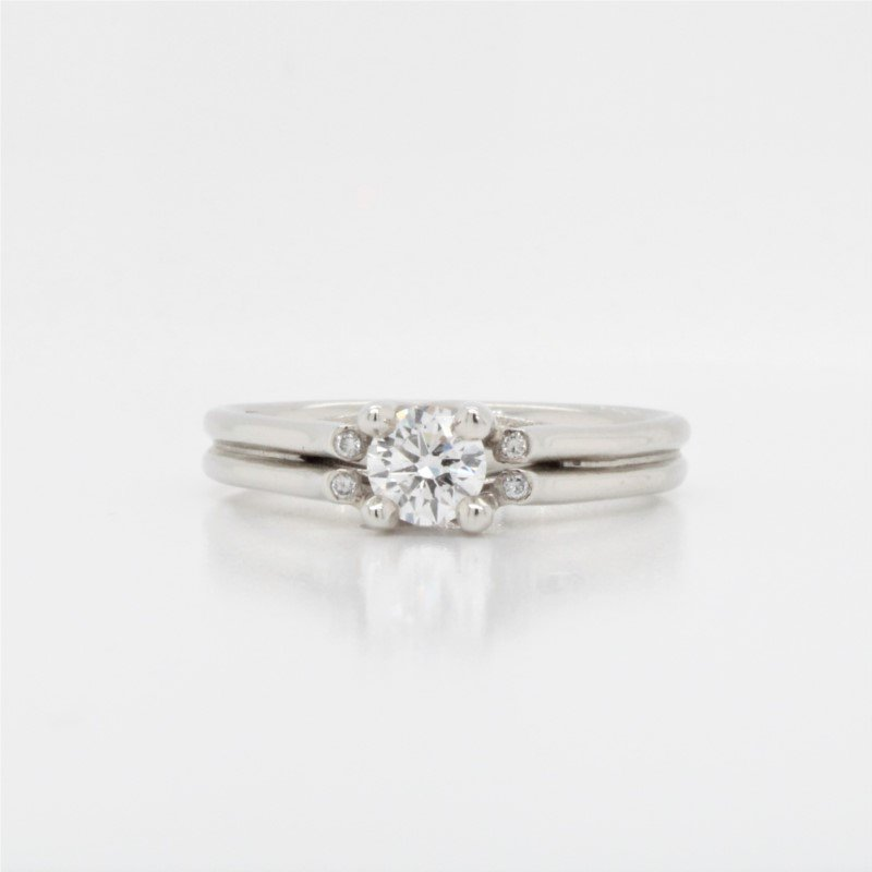 GNM Jewellery Collection 14K Solitaire Engagement Ring, 0.35 TCW