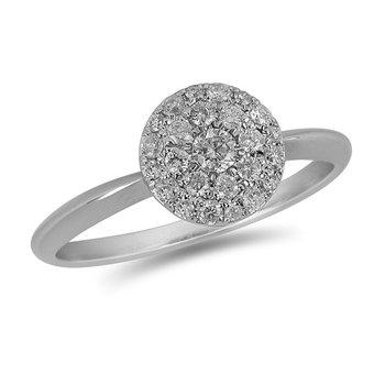 14k Diamond Cluster Ring, 0.31 TDW