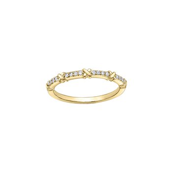 10 Karat Yellow Gold Diamond Band 0.08cttw