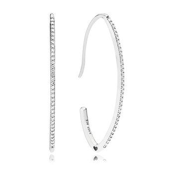 Oval Sparkle Hoop Earrings