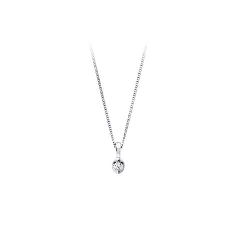 Love It! 10K Diamond Solitaire Pendant, 0.04 TCW