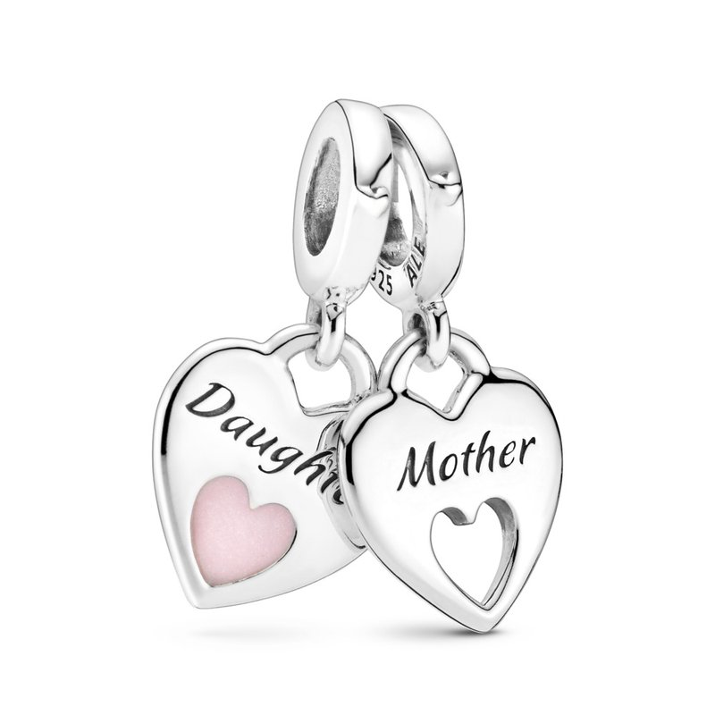 Pandora Double Heart Split Dangle Charm