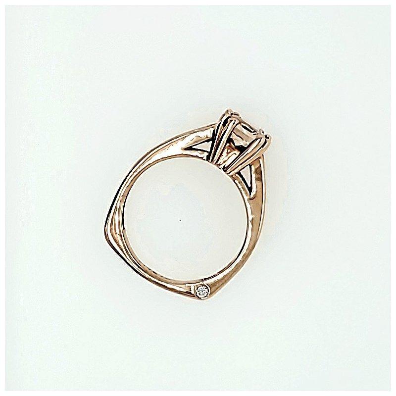 Frank Reubel 14K 1ct Morganite & Diamond Ring
