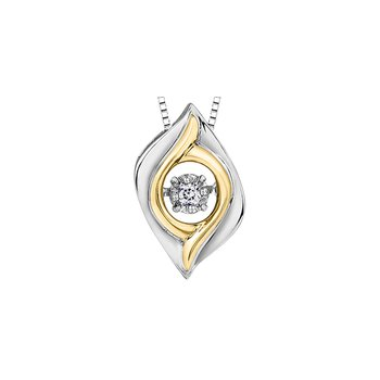 Silver and Gold Diamond Pendant