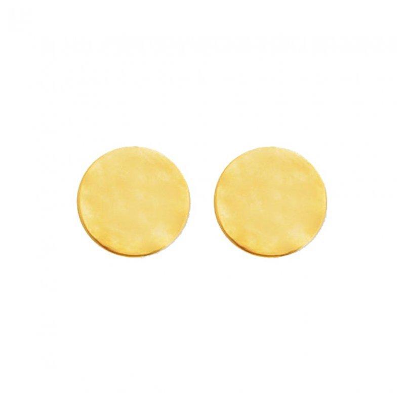 House of Jewellery Gold Tone Disc Earrings