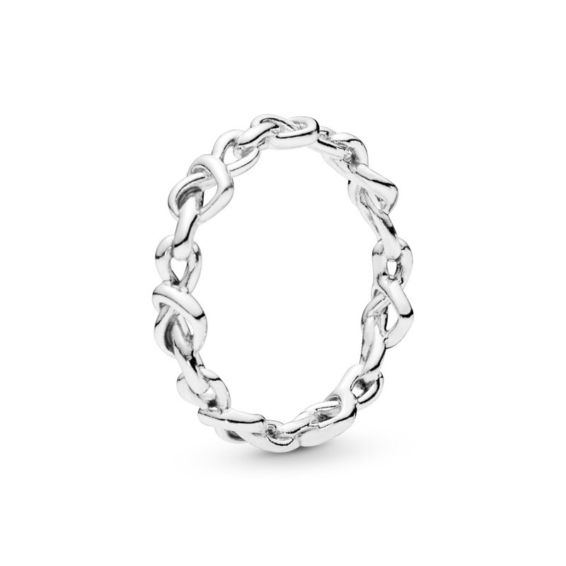 Pandora Knotted Hearts Ring, size 7.0