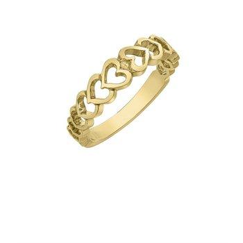 10k Yellow Gold Heart Ring