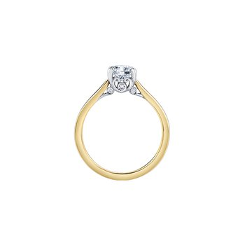 18K Solitaire Engagement Ring, 0.60 TDW