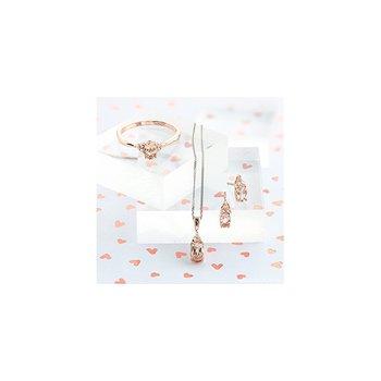 10K Morganite & Diamond Earrings