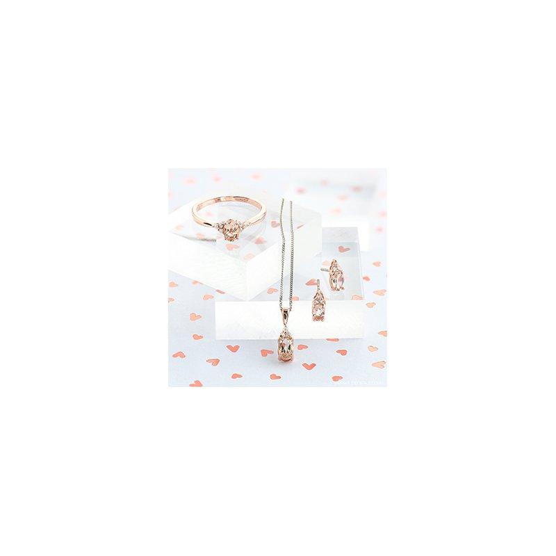 Diamond Days 10K Morganite & Diamond Earrings