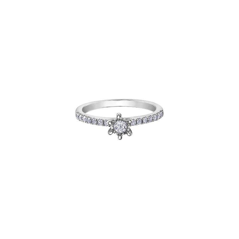 Illuminaire Diamond Collection 10K Six Prong Engagement Ring, 0.27 TDW