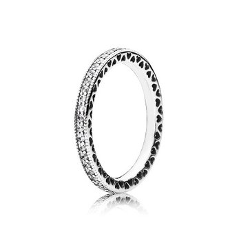 Sparkle & Hearts Ring, size 9.0