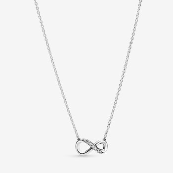 """Sparkling Infinity Collier Necklace, 19.7"""""""