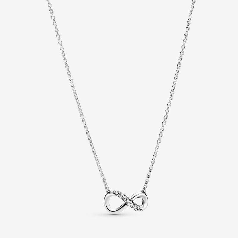 "Pandora Sparkling Infinity Collier Necklace, 19.7"""