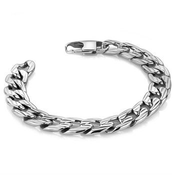Patterned Curb Link Bracelet