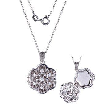 Sterling Silver Locket Style Pendant