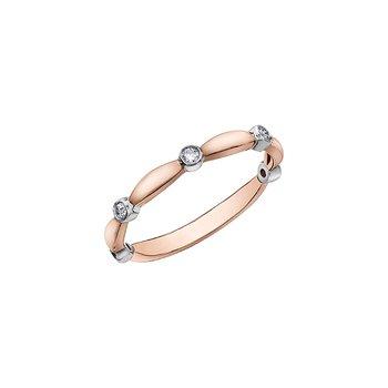 10k Rose Gold Diamond Band, 0.10 tdw