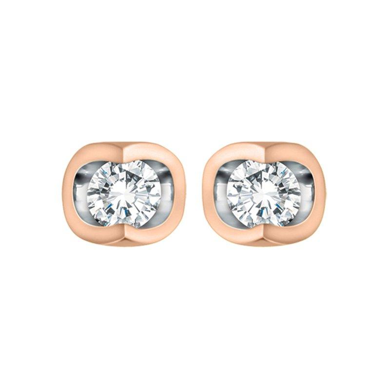 Forever Jewellery 10K Solitaire Diamond Earrings 0.06 TDW