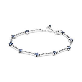 "Sparkling Pavé Bars Bracelet, 6.3"""