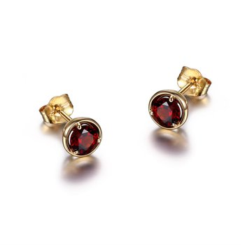 10K Gold January Birthstone Earrings