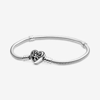 """Family Tree Heart Clasp Bracelet, 7.1"""""""