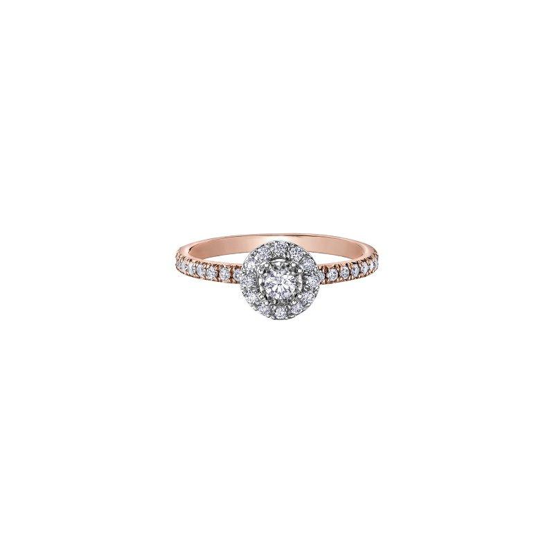 Diamond Days 10K Halo Engagement Ring, 0.56 TDW