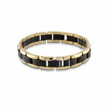 Black & Yellow Ion Plated Bracelet