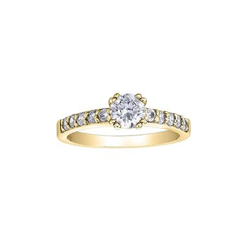14K Multi Stone Engagement Ring, 0.65 TDW