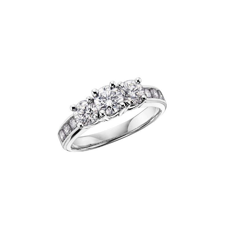 Diamond Days 14K Three Stone Engagement Ring, 0.50 TDW
