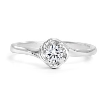 14K Solitaire Engagement Ring, 0.20 TDW