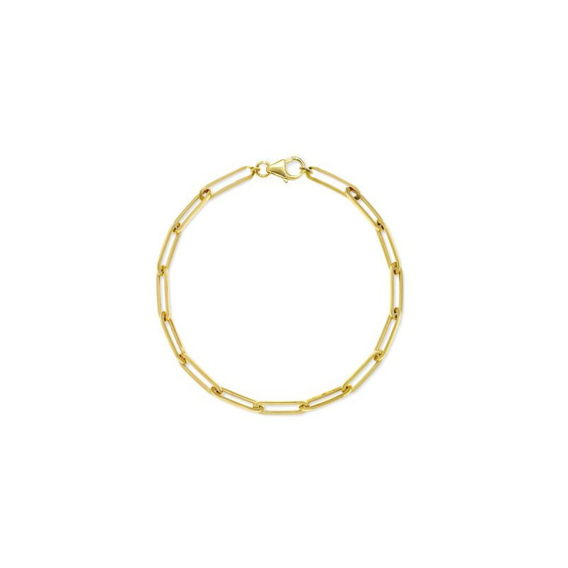 """House of Jewellery Gold Plated Paperclip Link Chain - 18"""""""