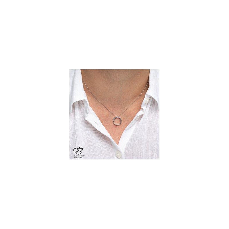 Forever Jewellery 10K Diamond Circle Pendant, 0.05 TDW