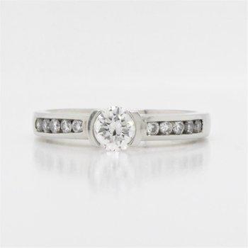 19K Diamond Engagement Ring, 0.60 TCW