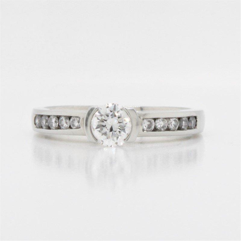 Beverly Hills Jewellers 19K Diamond Engagement Ring, 0.60 TCW