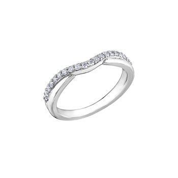 10K Curved Diamond Band, 0.10 TDW