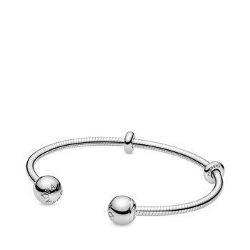 """Moments Snake Chain Style Open Bangle, 7.5"""""""
