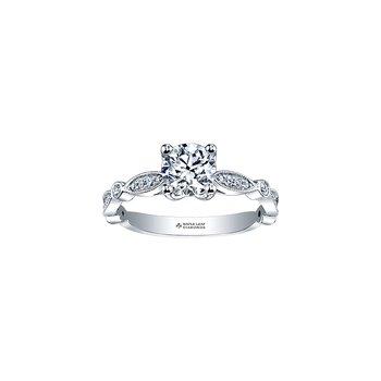 18K Engagement Ring, 0.70 TDW
