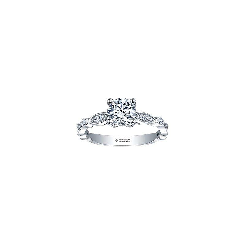 Maple Leaf Diamonds 18K Engagement Ring, 0.70 TDW