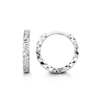 10K Diamond Cut Huggies