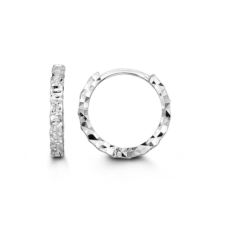 Bella 10K Diamond Cut Huggies