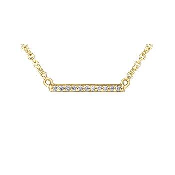 10k Diamond Bar Pendant