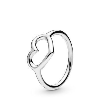 Polished Open Heart Ring, size 6.0