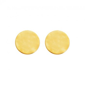Gold Tone Disc Earrings
